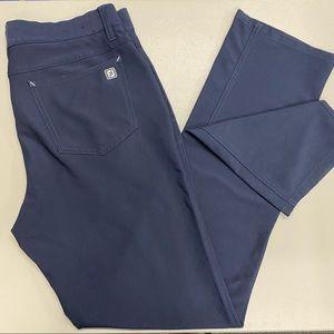 Foot Joy FJ Pants Navy Blue Pockets Golf Slacks